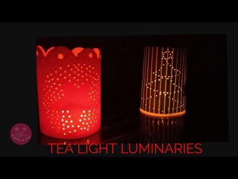 Very easy DIY tea light luminaries for Christmas | Easy tea light holder