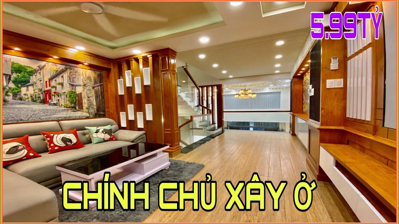 Bán nhà Gò Vấp|330] Nhà chính chủ xây ở Ngay Siêu thị Copmart Quang Trung 4 lầu giá rẻ full nội thất