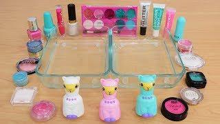 Pink vs White vs Teal - Mixing Makeup Eyeshadow Into Slime Special Series 202 Satisfying Slime Video