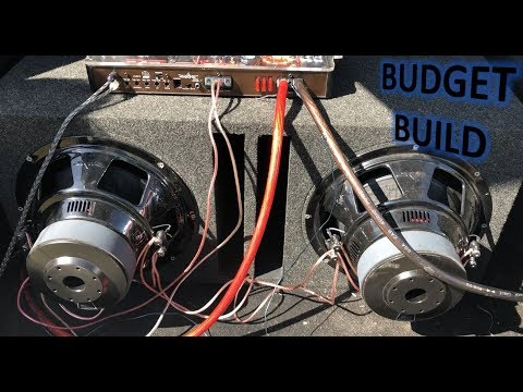 2 Skar SDR 12s on Skar 1000 | Budget Build | Prefab Ported Box