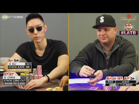 Battle of the Bluffs: Chris & Eli Play Big Pot with Air ♠ Live at the Bike!