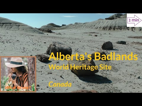WHAT TO SEE in Alberta's Badlands, Canada (2 minutes in North America Collection)