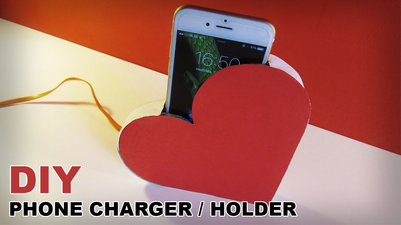Diy Heart Phone Charger Holder Youtube