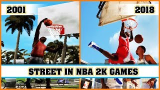 STREET MODE in NBA 2K games [NBA 2K1 - NBA 2K18]