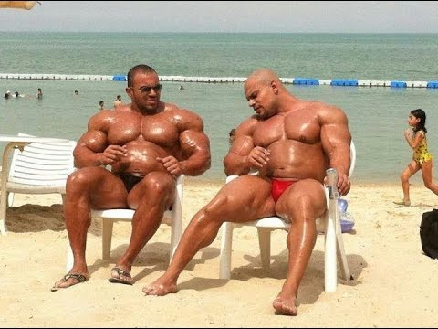 Big Ramy,at 315 pounds posing Mr Olympia 2015