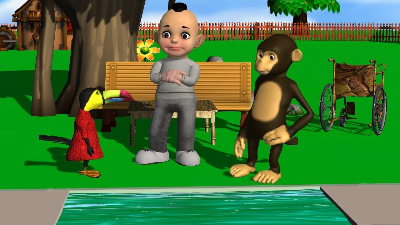 Funny Monkey and Little Baby How Bring Fruits || Cartoons Rhymes for Kids || Moral Stories and Songs