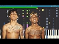 IMPOSSIBLE REMIX - Swang - Rae Sremmurd - Piano Cover video & mp3