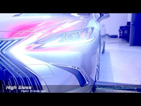 Lexus ES300h Titanium Silver Definitive Sydney Liquid Glass Ceramic Coating High Gloss Paint Protect