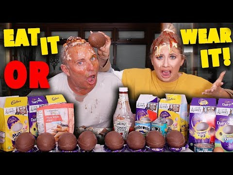 DISGUSTING EASTER EGG EAT IT OR WEAR IT CHALLENGE!!!😭😱ft MY DAD!!😂