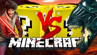 Minecraft: ROCKET LUCKY BLOCK CHALLENGE | Alien VS Jedi!!