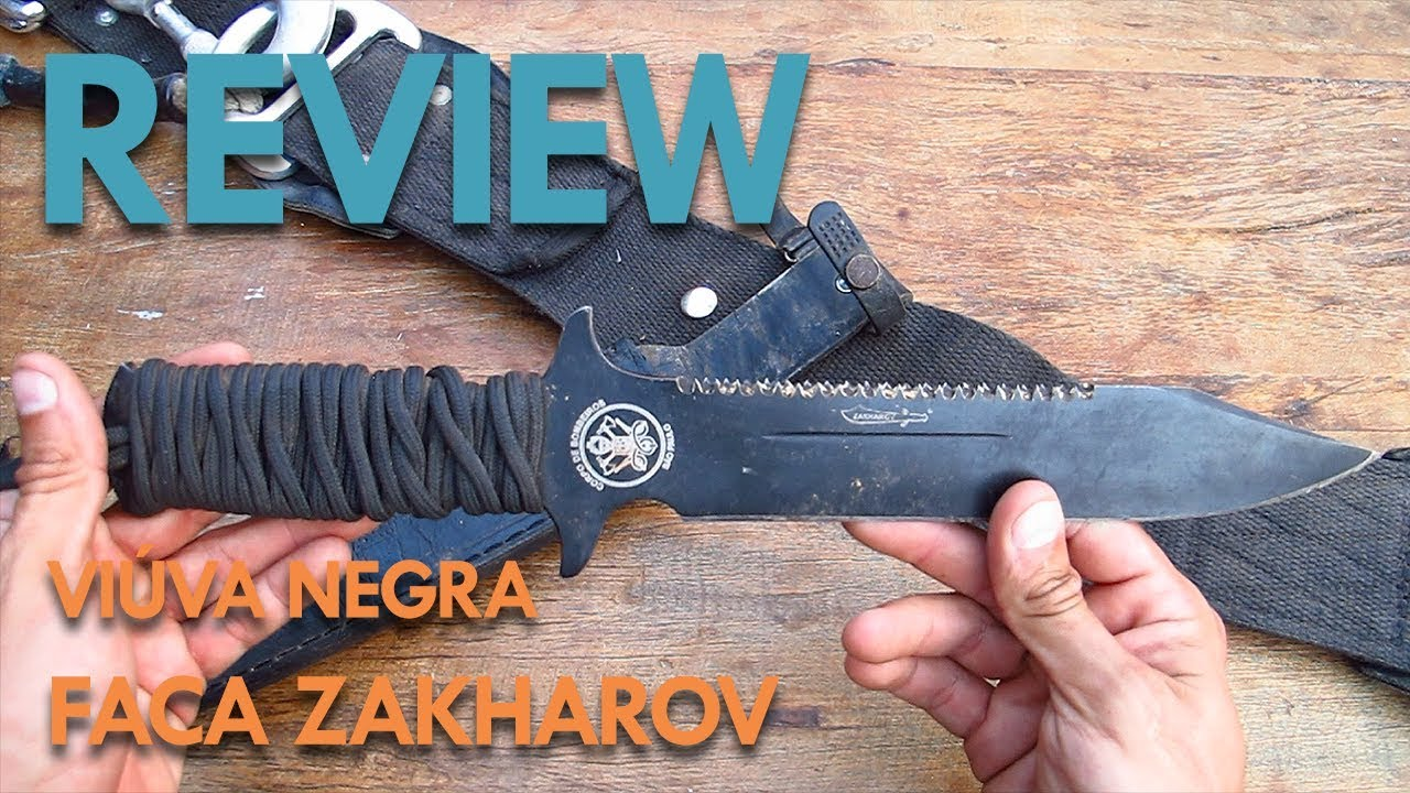 Review - Faca Zakharov Viúva Negra - YouTube 2a80c02ef3