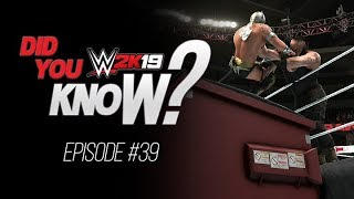 WWE 2K19 Did You Know? Dumpster Match, Outside of the Parking Lot, Copy Moves & More! (Episode 39)