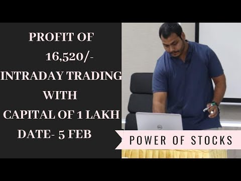 Live trading video 16k profit of trading | Intraday live trading ||profits with in 1 hour Feb-5
