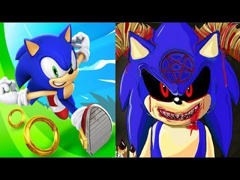 Sonic Dash Vs SONIC EXE ATTACKS