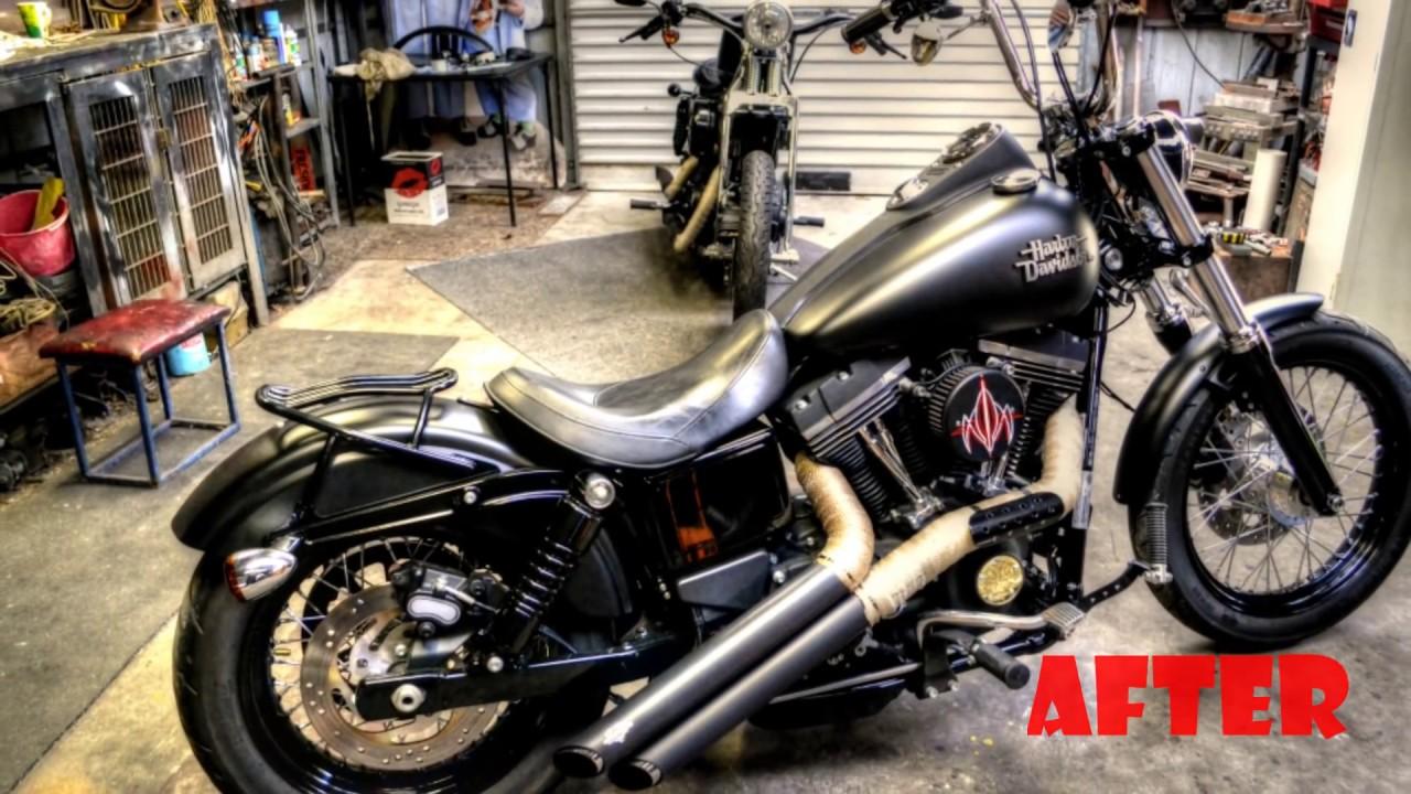 Installing Progressive 11 inch shocks to my Harley Dyna Street Bob  HD  GOPRO!