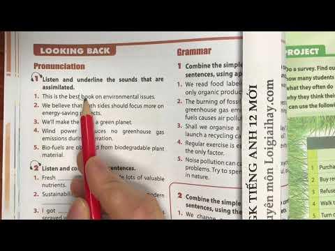 Trả lời Looking back - trang 40 Unit 3 SGK Tiếng Anh 12 mới