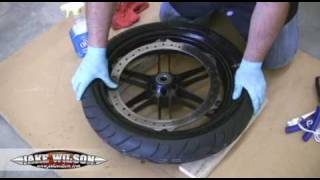 Tubeless Motorcycle Tire Change: Tire Changing