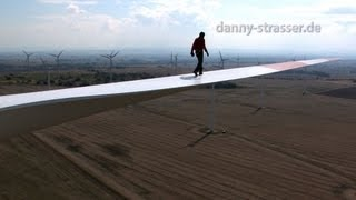 walking on windmill blade 300 feet over ground!