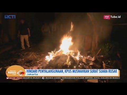 Ribuan Surat Suara Rusak di Berbagai Daerah Dimusnahkan Petugas KPU - SIP 17/04