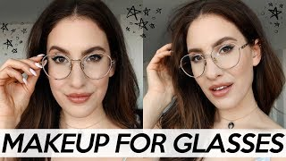 HOW TO WEAR MAKEUP FOR GLASSES: All Of My BEST TIPS ! | Jamie Paige