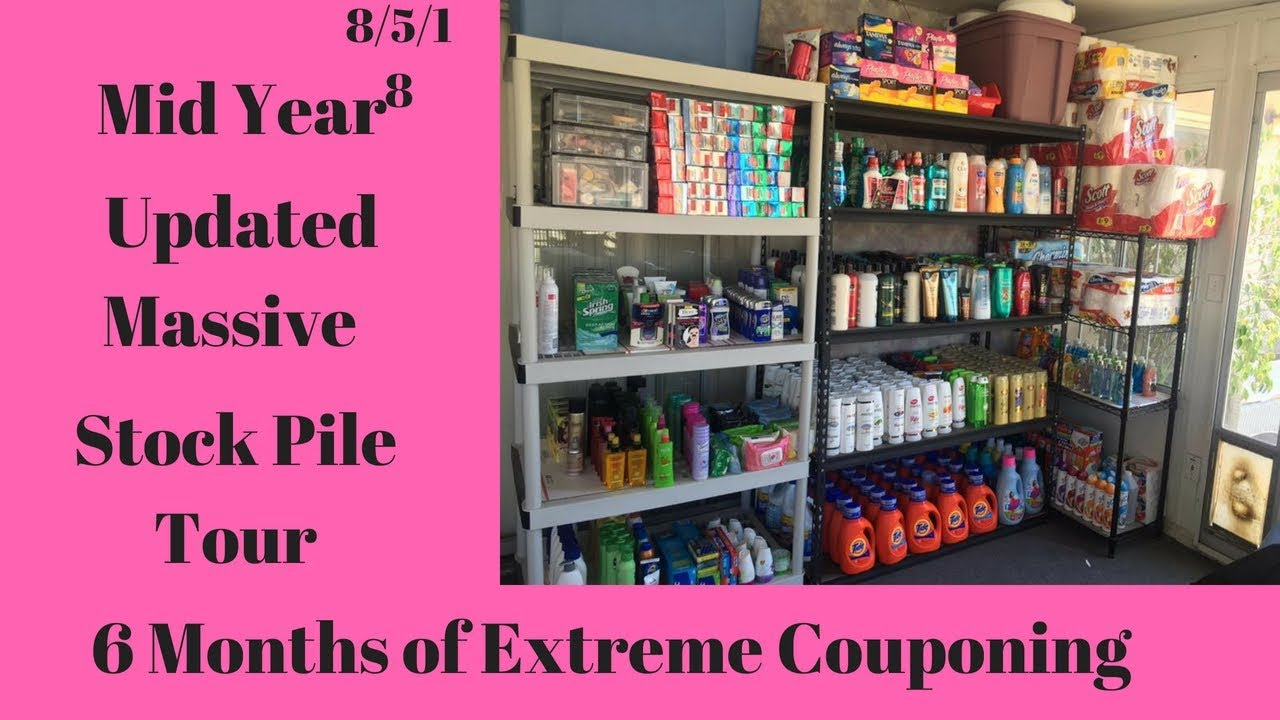 Extreme Coupons Stockpile Tour 2018//6 Months of Extreme Couponing