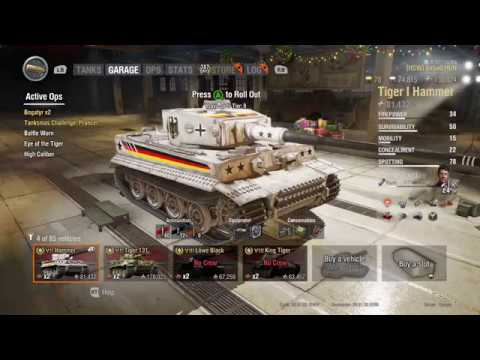 World Of Tanks, Tiger 131 Vs. Hammer, XBox One X