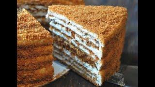 Торт МЕДОВИК без РАСКАТКИ КОРЖЕЙ. Торт за 30 минут без ЗАМОРОЧЕК.