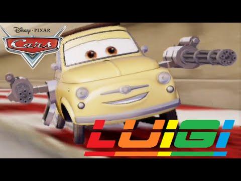 Cars 2 - Luigi ( Friend From Lightning McQueen & Mater & Finn McMissile )