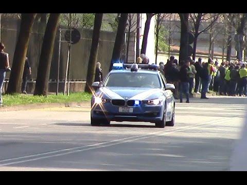 Polizia in scorta per Papa Francesco a Monza - Italian law enforcement.