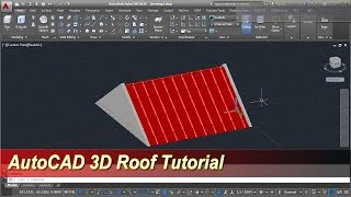 AutoCAD 3D Roof Modeling Tutorial
