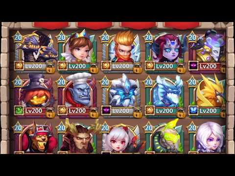 800K Might Hero Altar Review (1/4) | The Heroes | Castle Clash