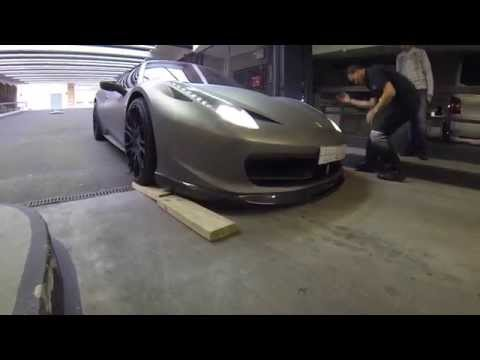 London Supercars: Hamann 458 to low to fit into parking garage!