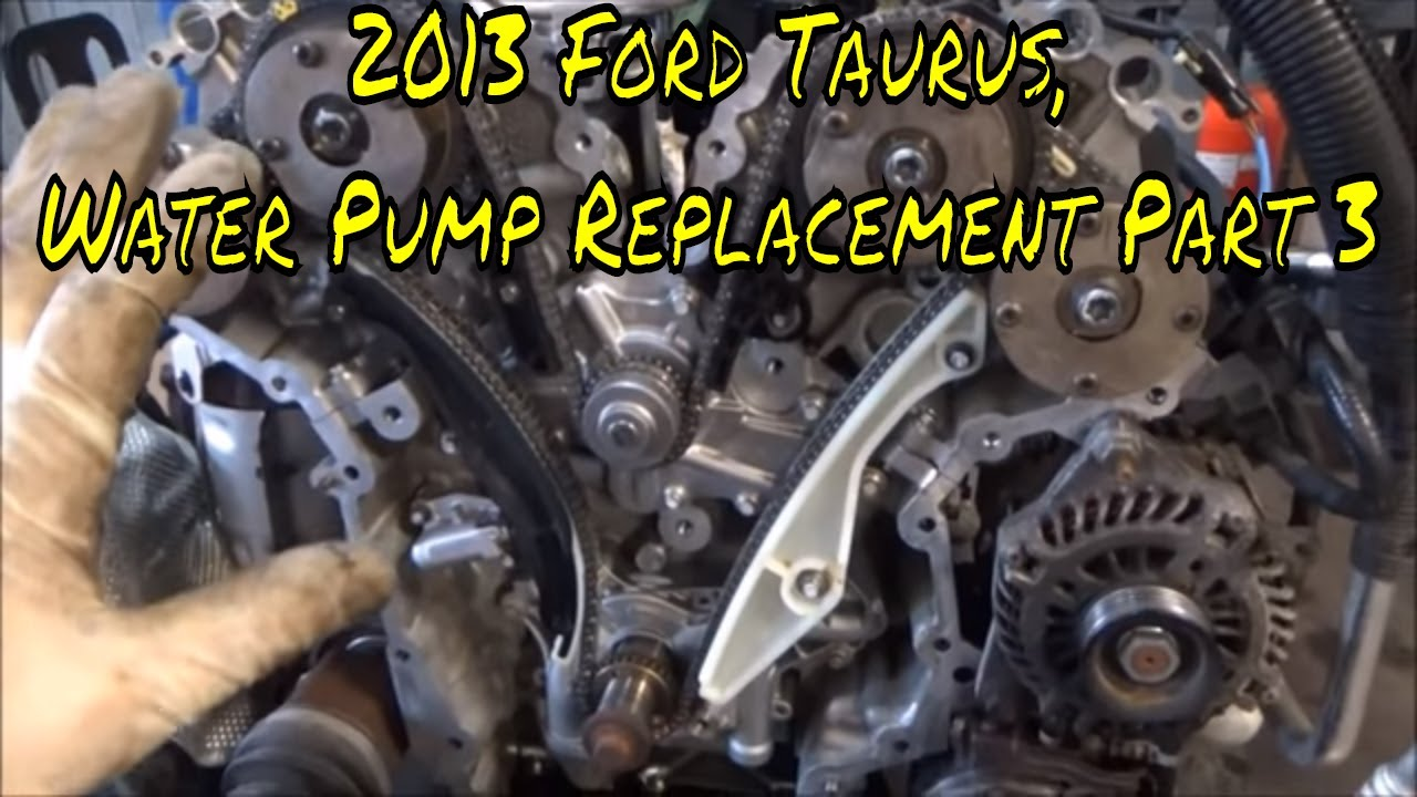 2013 ford taurus water pump replacement part 3 [ 1280 x 720 Pixel ]