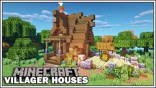 villager minecraft houses farmer tutorial