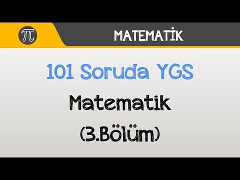 101 Soruda YGS Matematik 2016 (3.Bölüm)