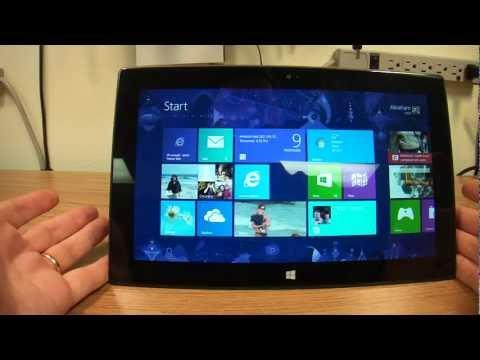 Microsoft Surface Tablet, Nice Flip Through Programs Swipe Function