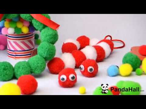 PandaHall 2018 New Year DIY Craft  Video on PomPom Decoration and Jewelry Set