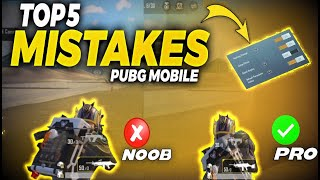 TOP 5 Major Mistakes We Do In PUBG Mobile - Dedsec Psycho