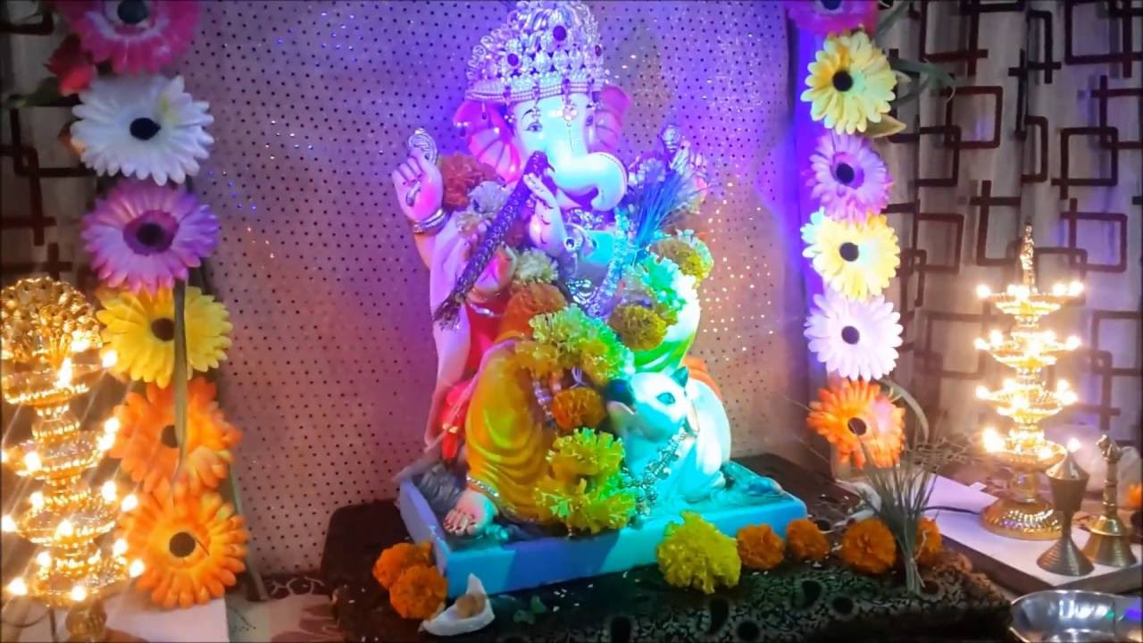 How To Make Diy Flower Canopy Decoration For Ganpati Festival