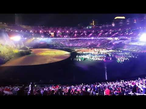 Opening Asian Games 2018 Via Valen Meraih Bintang