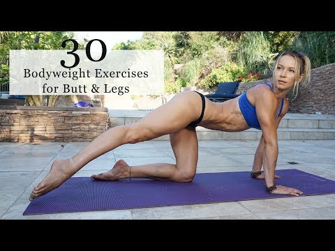 30 Bodyweight Exercises for BUTT & LEGS - 5 Minute Fit Friday with Z