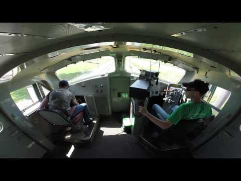 Ride along with a view from the cab on the CNW 411 at IRM