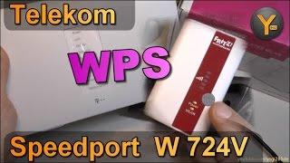 Telekom Speedport W724V: WLAN-Geräte per WPS hinzufügen / Schnellverbindung mit WPS Methode