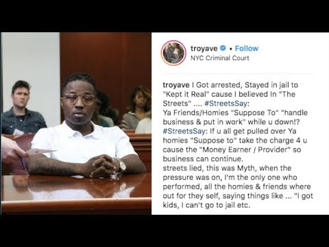 "Troy Ave Breaks Down On IG: ""I Have To Snitch, I'm Facing 40 YRS & My Homies Left Me Hanging"""
