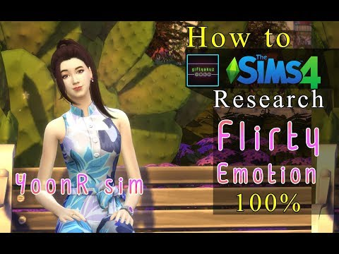 The Sims 4 | Actress career | How to Research Flirty Emotion.
