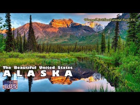 USA Alaska State Symbols/Beautiful Places/Song ALASKA's FLAG w/lyrics