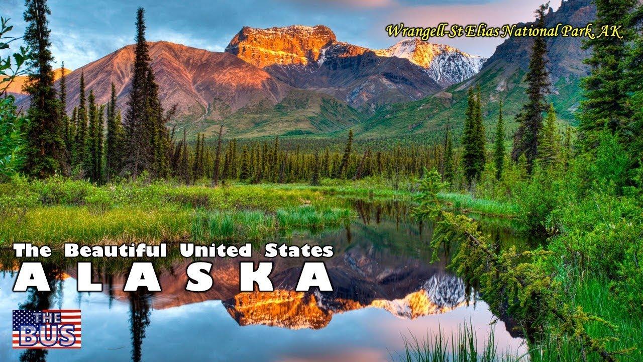 Usa Alaska State Symbolsbeautiful Placessong Alaskas Flag W
