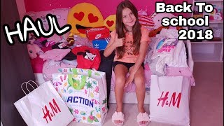 [BACK TO SCHOOL 2018 ] - HAUL - H&M - ACTION - FOOT LOCKER
