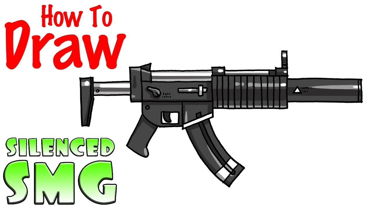 How To Draw The Silenced Smg Fortnite Youtube