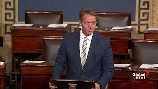 Sen. Jeff Flake rips president Trump for his